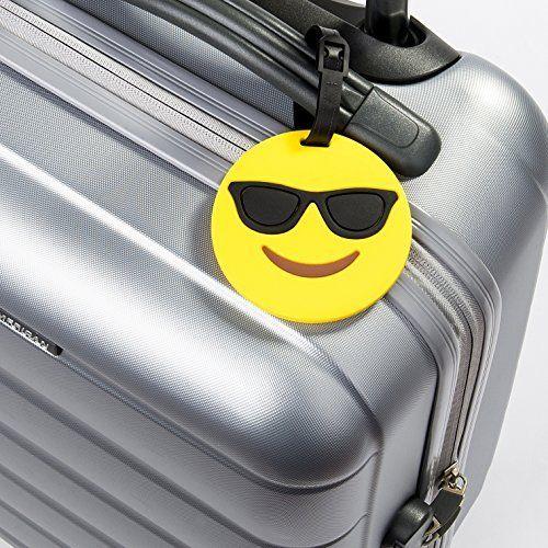 b64d764253 Smiley with Sunglasses Emoji Luggage Tag - Emoji Galore