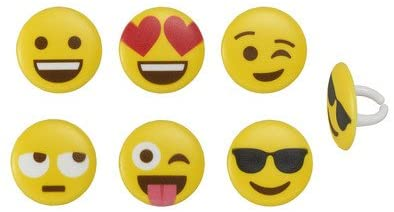 Emoji Cupcake Rings