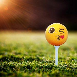 Emoji Kiss Golf Ball