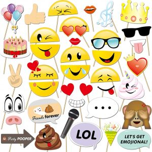 Emoji Photo Booth Set