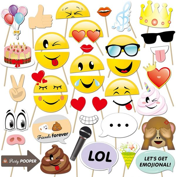 Emoji Photo Booth Set