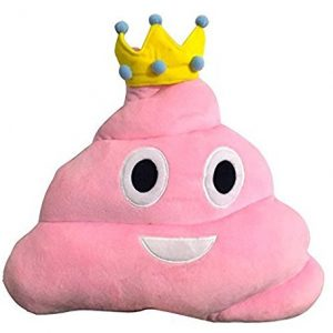 Emoji Poop Princess Pillow