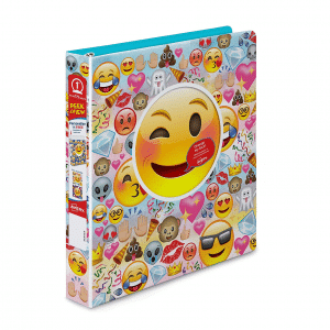 Emoji Three Ring Binder