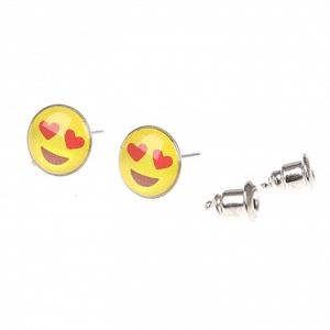 Emoji Stud Earring w/ Hearts