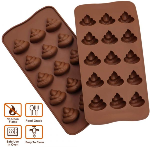 Features Poop Emoji Baking Mold Silicone