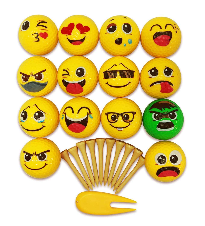173e0dc362 Set of Emoji Golf Balls Perfect for Gifts - Emoji Galore