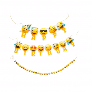 Happy Birthday Emoji Banner