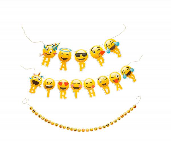 Happy Birthday Emoji Banner