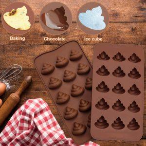 Options Poop Emoji Baking Mold