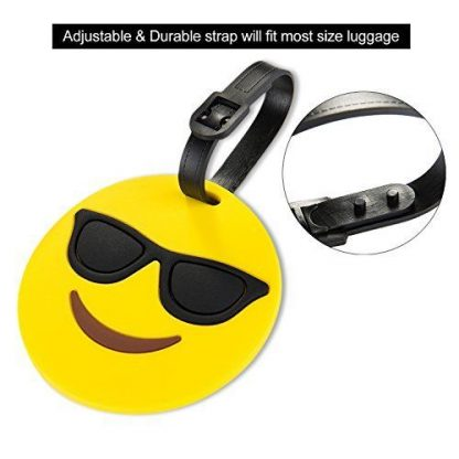 Smiling Sunglasses Luggage Tag