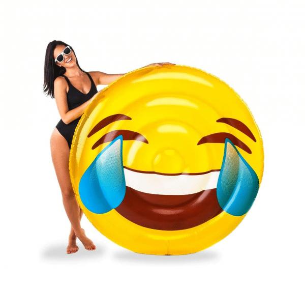 Laughing Tears Emoji Pool Floatie