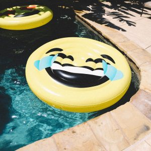 LOL Laughing Emoji Pool Float