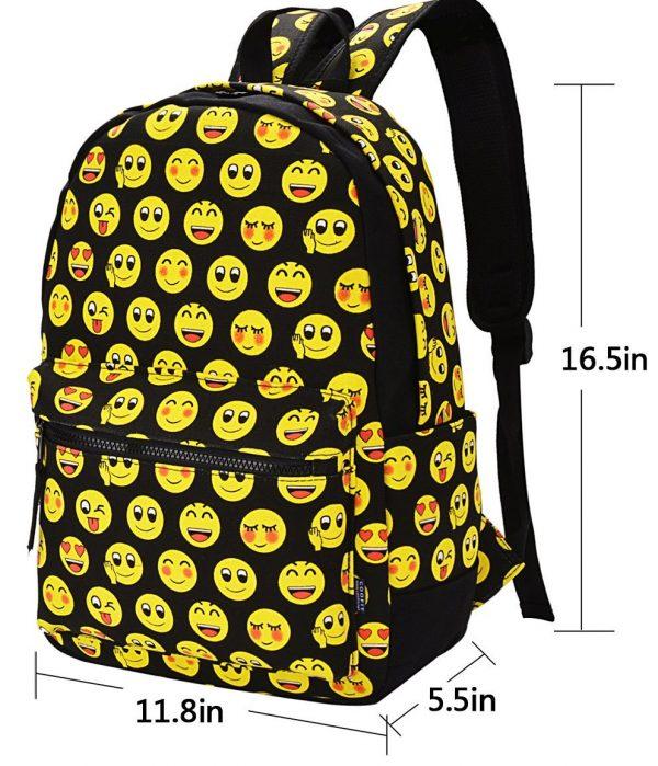 Emoji Backpack Sizes