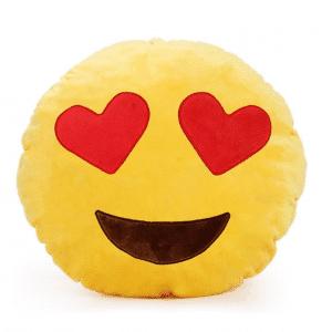 Emoji Pillow Throw Heart Eyes