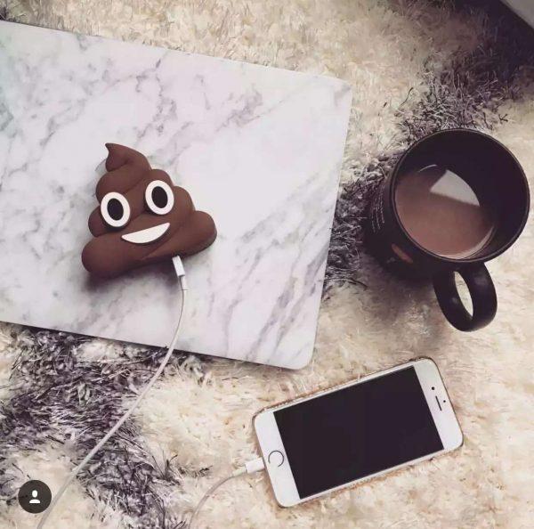 Poop Emoji USB Portable Charger