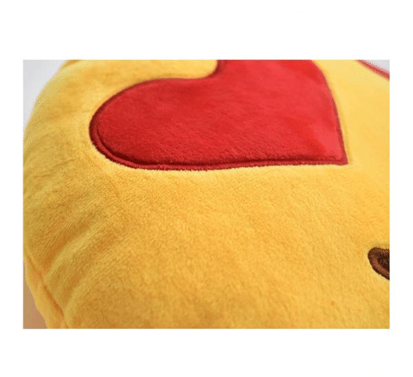 Heart Eyes Emoji Pillow Soft Felt