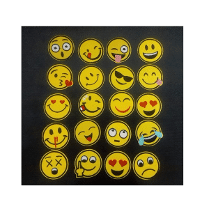 Emoji Iron Patches Size