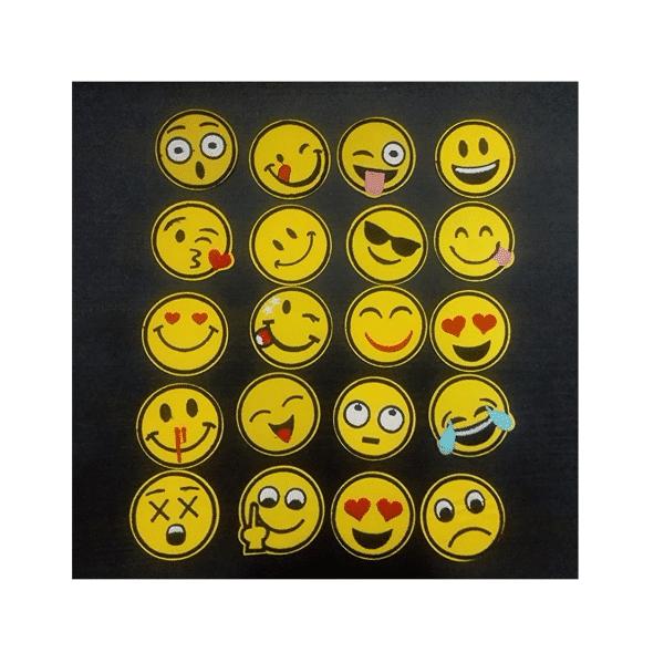 Emoji Iron Patches Size