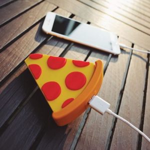 Portable iPhone Android Charger Pizza