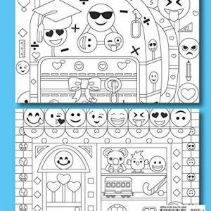Back of Emoji Coloring Book