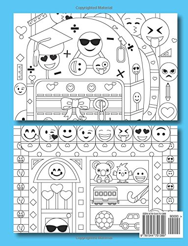 Back of Emoji Coloring Book
