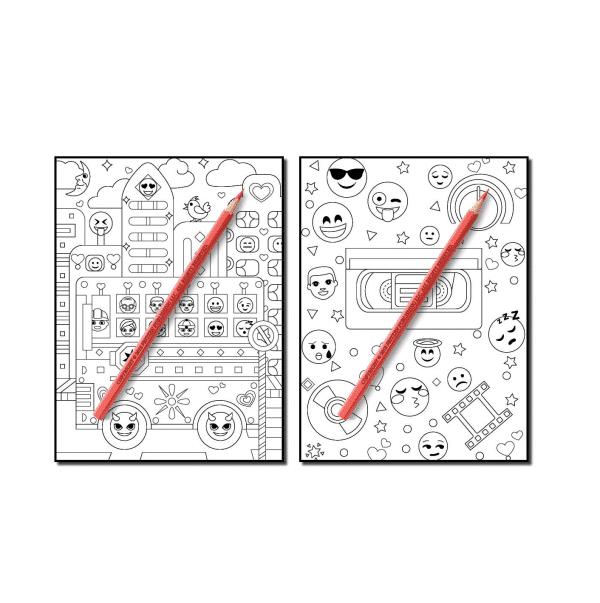 Emoji Coloring Book Page 2