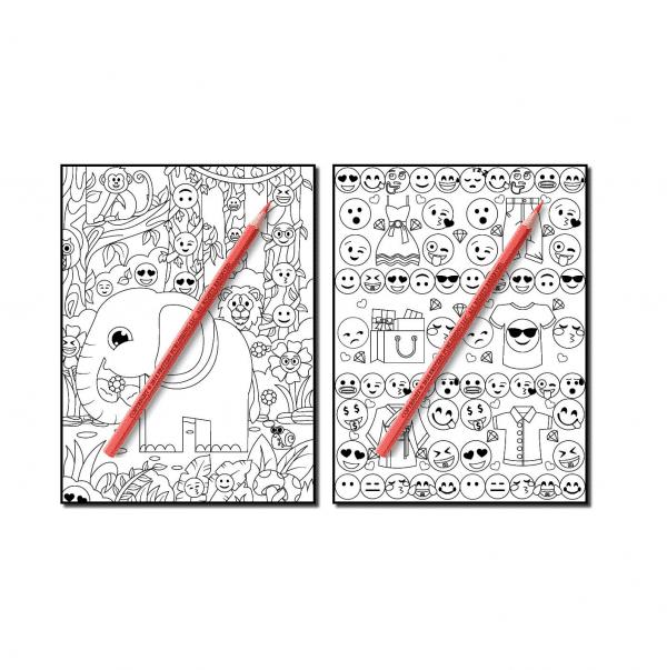 Emoji Coloring Book Page 3