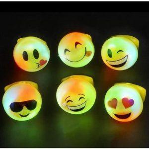 Emoji LED Light Up Rings
