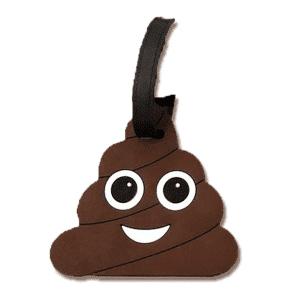 Poop Emoji Luggage Tags