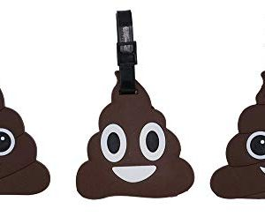 Poop Emoji Luggage Tags 3 Pack