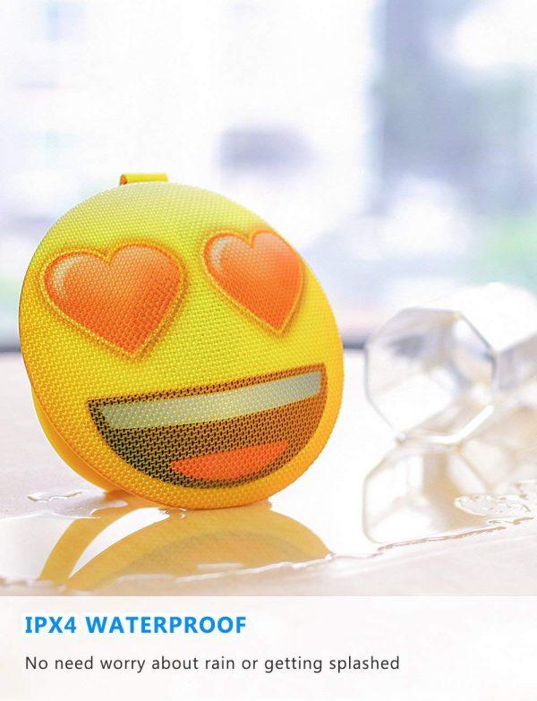 Waterproof Bluetooth Speaker Heart Eye Emoji
