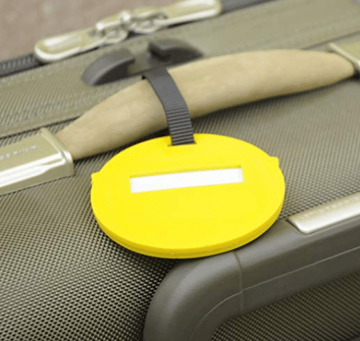 Emoji Back of Circle Luggage Tags