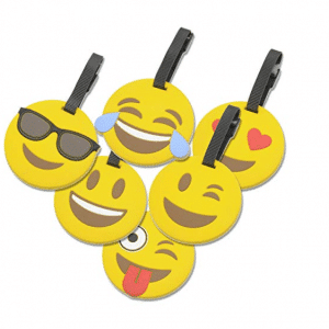 Emoji Circle Luggage Tags