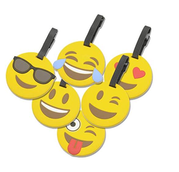 Emoji Circle Luggage Tags