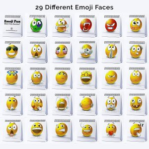Emoiji Desk 29 Faces Gift