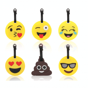 Emoji Luggage Tags