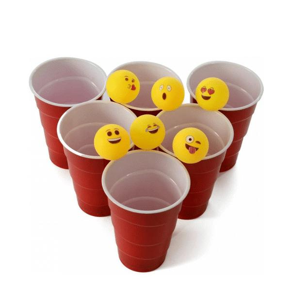 Emoji Printed Ping Pong Set