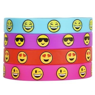 Silicone Emoji Wristband