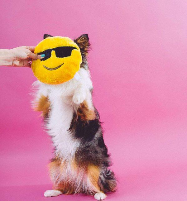 Dog Smiling Sunglasses Plush Toy