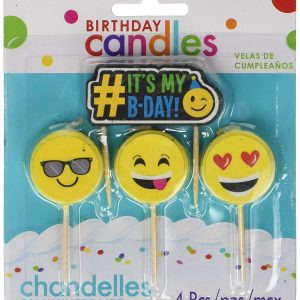 Emoji Birthday Candle 4 Pack