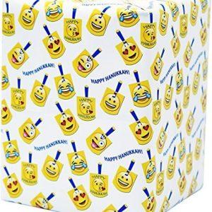 Emoji Dreidel Gift Wrap Sheets