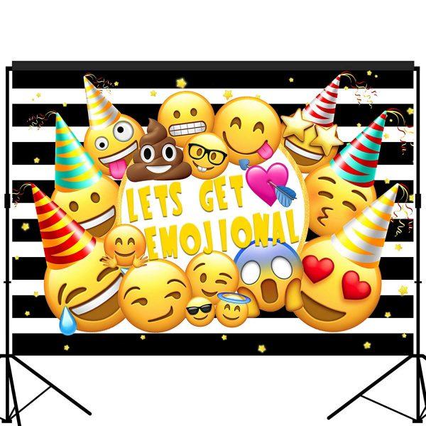 Emoji Lets Get Emojinal Party Backdrop