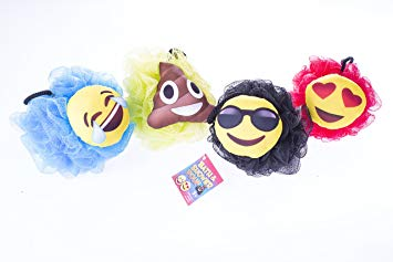 Emoji Loofah Shower 4 Pack