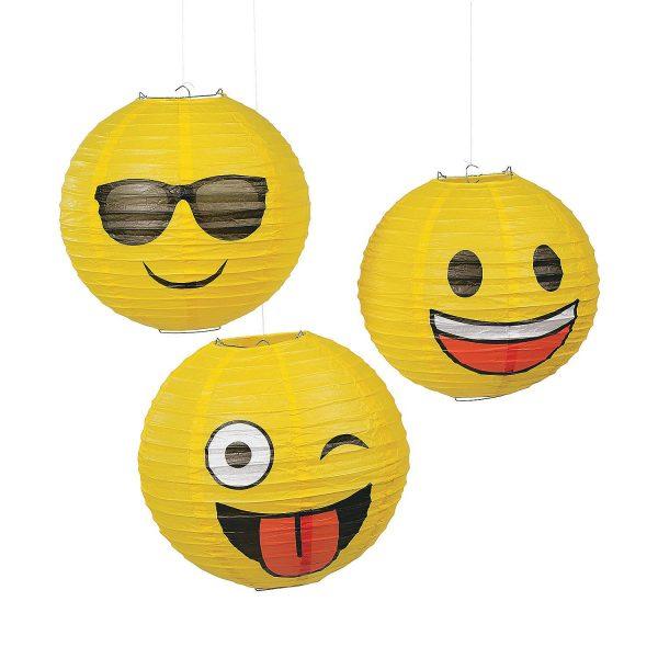 Emoji Party Lanterns 3 Pack