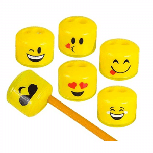 Emoji Pencil Sharpener 24 Pack