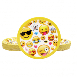 Emoji Styled Party Plates