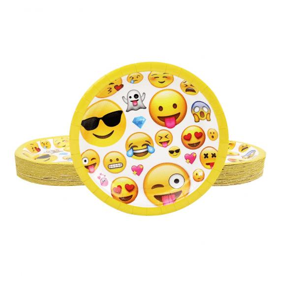 Emoji Styled Party Plates