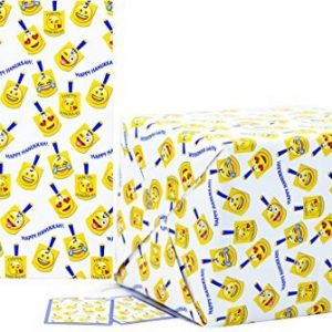 Chanukah Gift Wrap Emoji