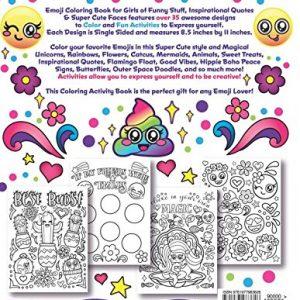 Back of Emoji Coloring Book for Girls