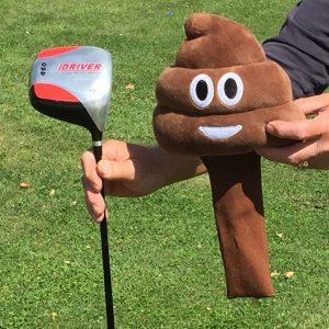 Golf Club Poop Emoji Cover